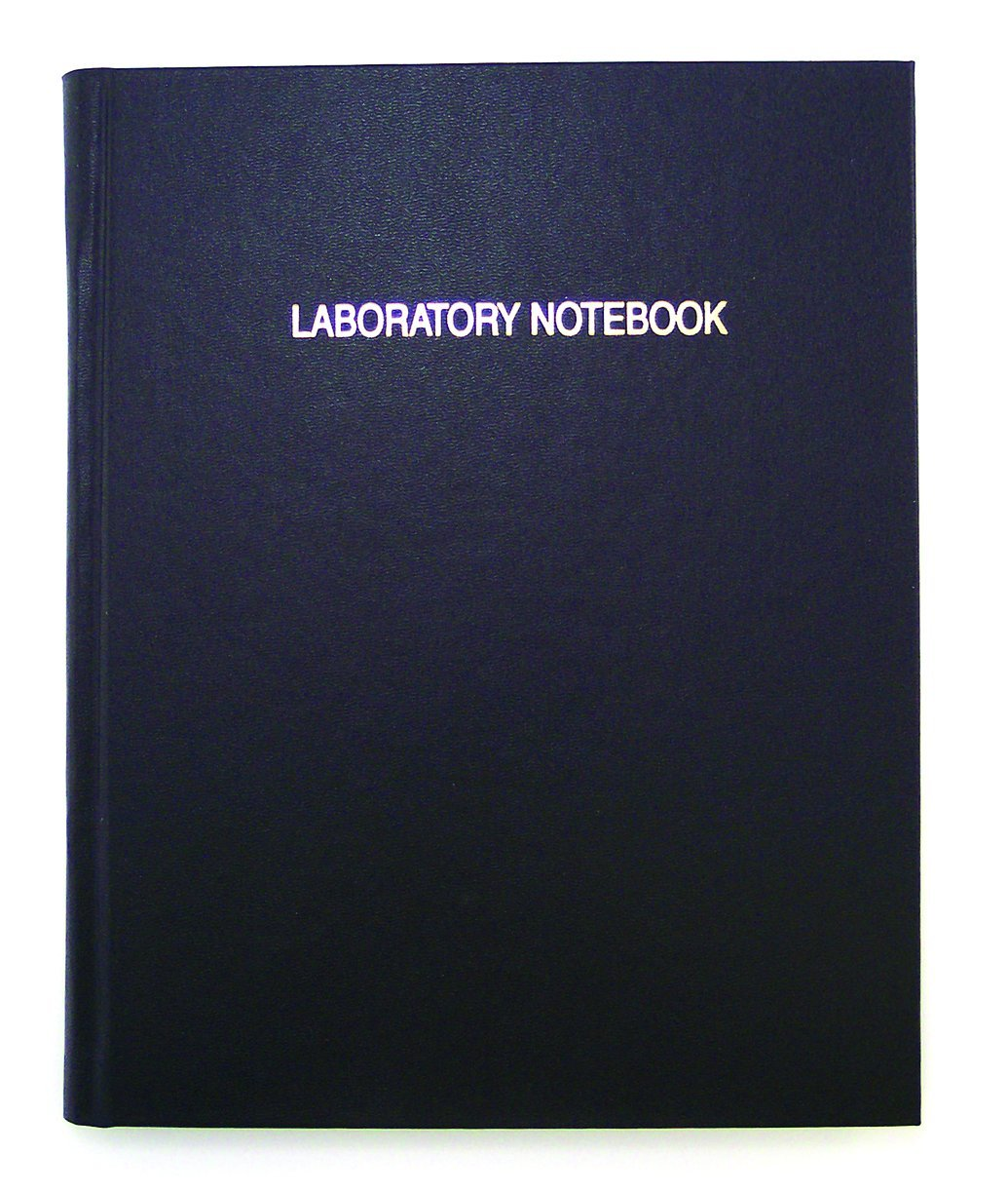 Thomas TSCILIRPE216LKG Grid Laboratory Notebook, Black Imitation Leather Cover, 216 Pages, 10'' Length x 8'' Width (Case of 10)