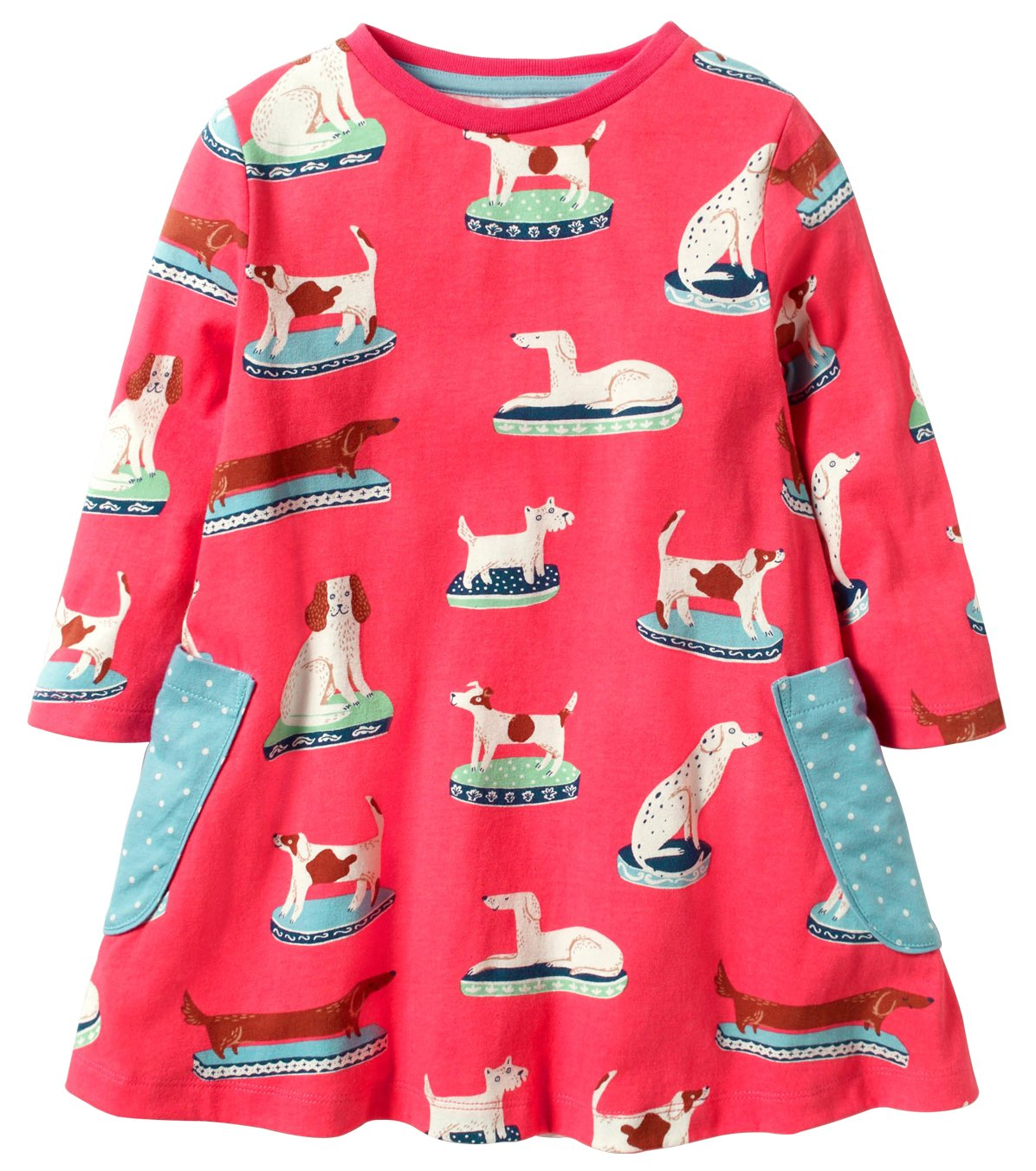 Fiream Girls Cotton Casual Longsleeve Cartoon Dresses (7T/7-8YRS, S0358) by Fiream (Image #1)