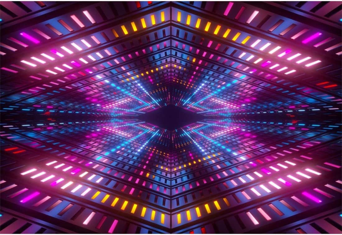 Amazon Com Yeele 5x4ft Disco Dance Party Backdrop For Photography Neon Adults Party Decoration Neon Lights Bright Ballroom Tunnel Stage Background Party Event Banner Photo Booth Shoot Studio Props Camera