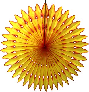 product image for Summer Sun Themed Extra-Large 27 Inch Tissue Paper Sunburst Fan Party Decoration (1 Fan)