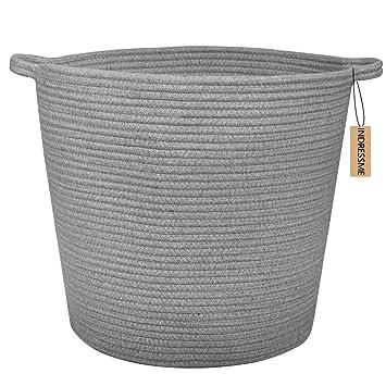 Pretty Laundry Baskets Awesome Amazon INDRESSME Extra Large Storage Baskets Cotton Rope