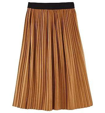 a8deaa13e6c625 Promod Jupe midi plissée Femme: Amazon.fr: Vêtements et accessoires
