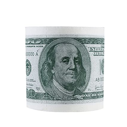 Sanitary Paper 1 Pc Facial Tissue Cleaning One Hundred Dollar Bill Toilet Paper Novelty Fun $100 Tp Money Roll Gag Gift With The Best Service