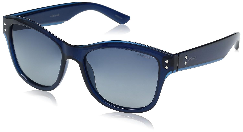 fedcd722e27 Amazon.com  Polaroid Sunglasses Women s Pld4034s Wayfarer Sunglasses Blue  Gradient Polarized