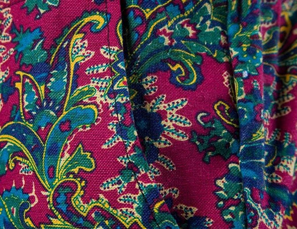 XiaoTianXin-men clothes XTX Mens Cotton Linen Loose Drawstring African Print Jogger Pants Trousers