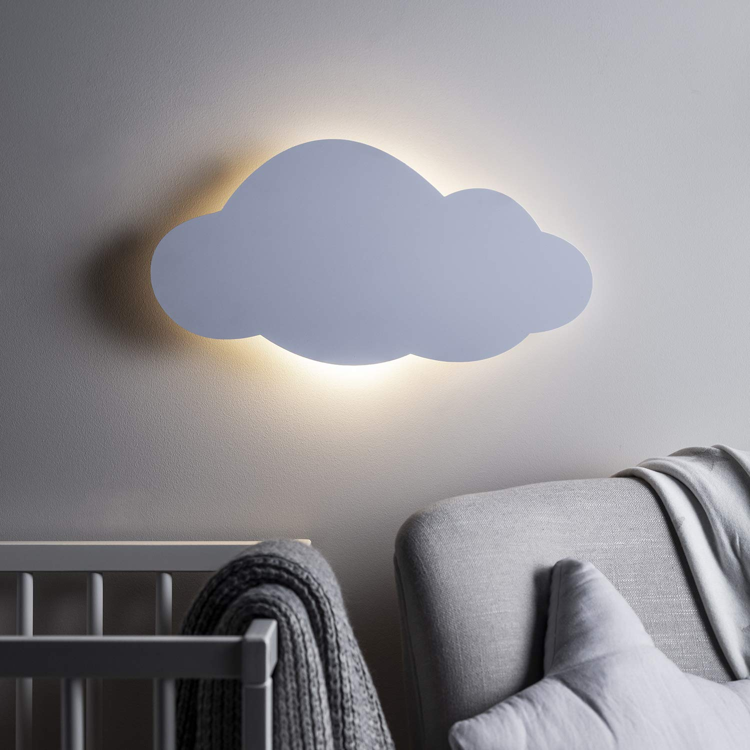 Lights4fun, Inc. Cloud Silhouette Battery Operated Bedroom Wall Night Light with Remote Control by Lights4fun, Inc.