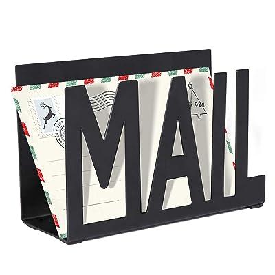Small Metal Desktop Mail Bill Organizer Letter Sorter Compact Racks