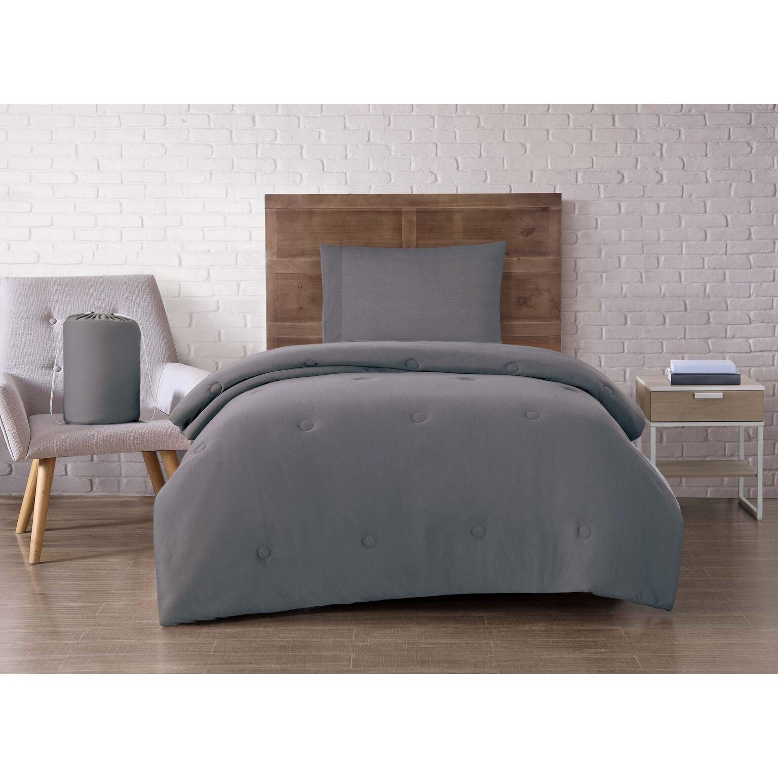 Brooklyn Loom CS2424CGTX4-00 Dorm Set, Twin XL, Charcoal