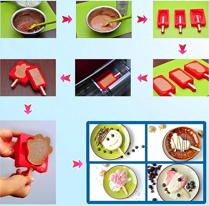 Helado Molde, meiyaa de calidad alimentaria Ice Cube bandejas 7 tipos de modelos creativos para helado A: Amazon.es: Hogar