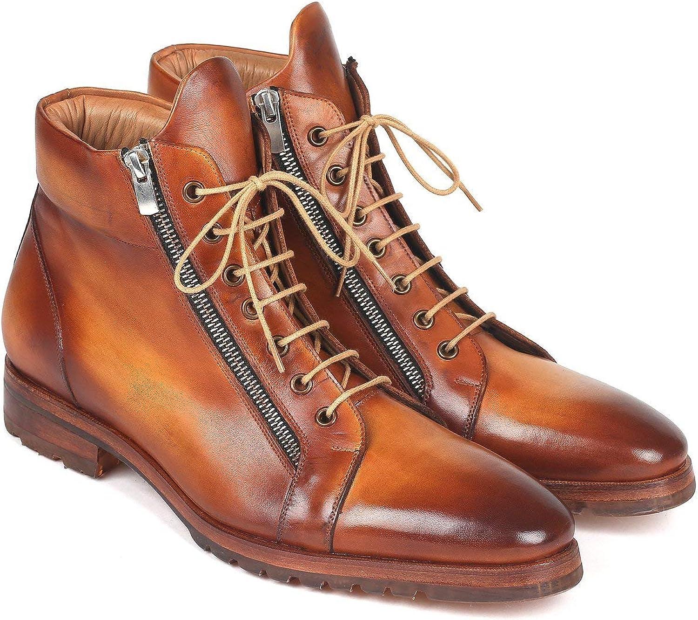 Paul Parkman 12455-CML - Botas de Piel con Cremallera Lateral, Color marrón Claro