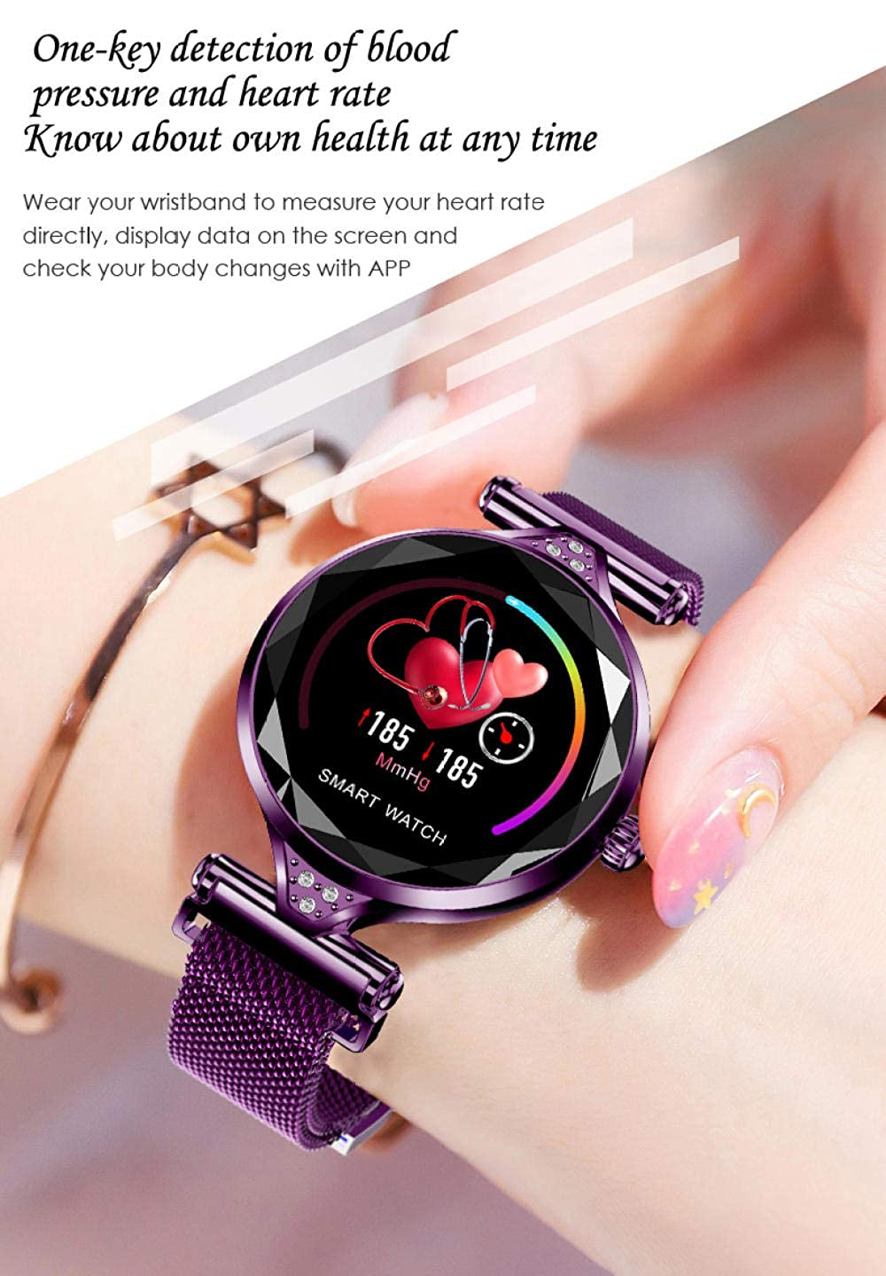 Relojes Inteligentes Mujeres H1 Smart Watch Heart Rate Band ...