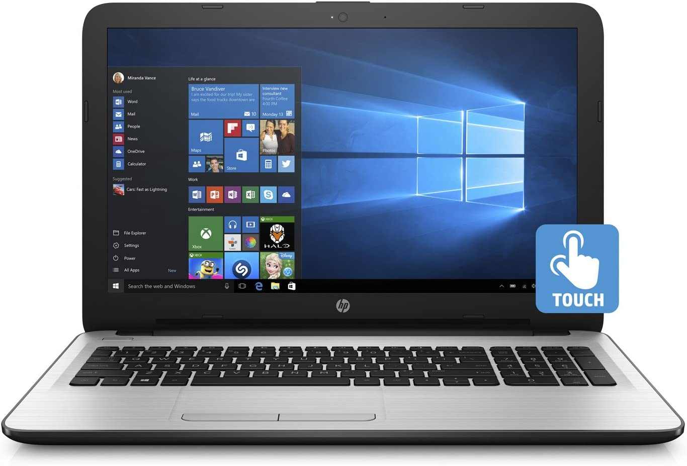 Hp 15 6 Touchscreen Notebook Amd A6 7310 Apu 6gb Ram 1tb Hdd Amd Radeon R4 Graphics Windows 10 Home White Amazon Ca Computers Tablets