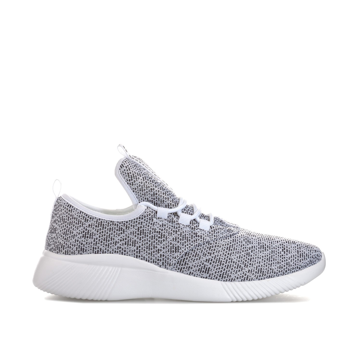 9f61ae37ceaf Crosshatch Mens Mens Turbulent Knit Trainers in White - UK 8  Amazon.co.uk   Shoes   Bags