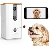 DOGNESS Dog Camera Treat Dispenser,HD Video WiFi Pet Camera with 2-Way Audio and Night…