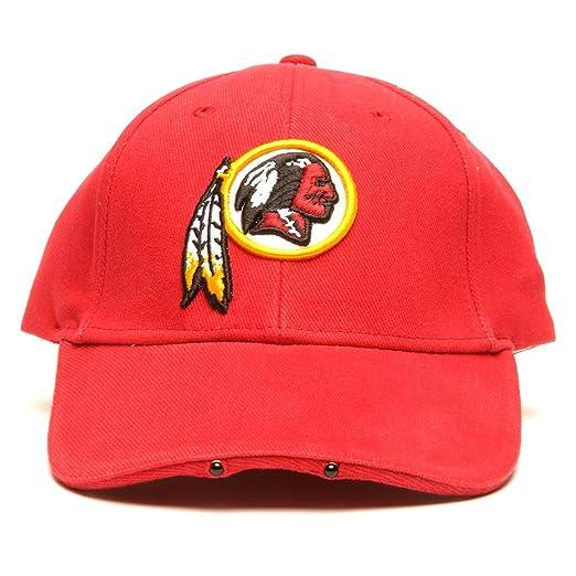 a1a234433fd71 Amazon.com   NFL Washington Redskins Dual LED Headlight Adjustable Hat    Sports Fan Novelty Headwear   Clothing