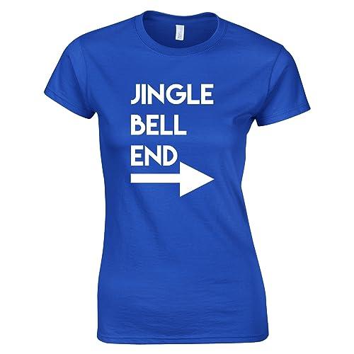 Tim and Ted Jingle Bell Fine Printed Slogan Citazione Design Qualità Premium T-Shirt da Donna