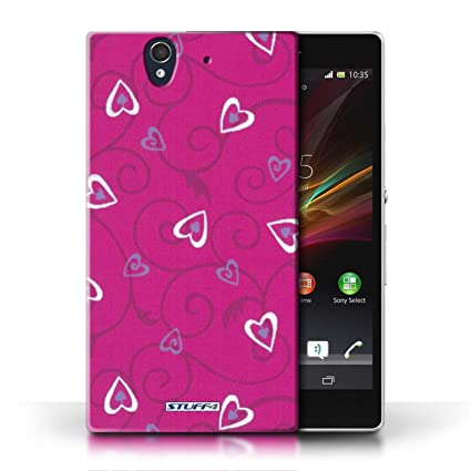 Multi Variant Smartphone/Heart Pattern Collection rosa/morado Sony ...