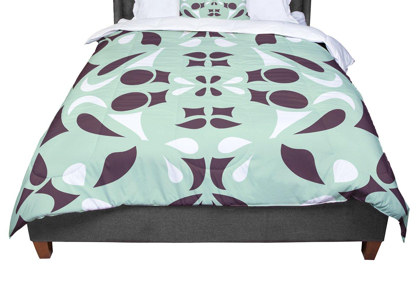 KESS InHouse Miranda Mol Swirling Teal Queen Comforter 88 X 88