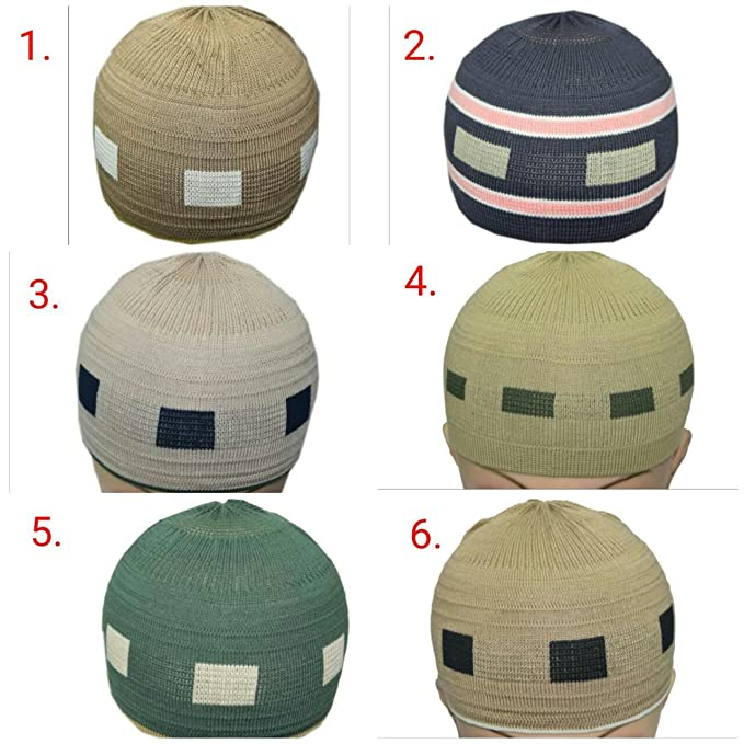 ee55801ae9b detailed pictures 3318c 3a4a5 manaal enterprises islamic topi prayer kufi  hat skull cap beanies men muslim cap stretchable