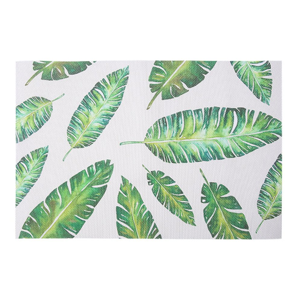 Wnakeli Placemat Table Mat Dining Desk Heat Resistant Cup Mat Leaf Pattern Table Place Mats for Dining Table Home Restaurant 1Pcs