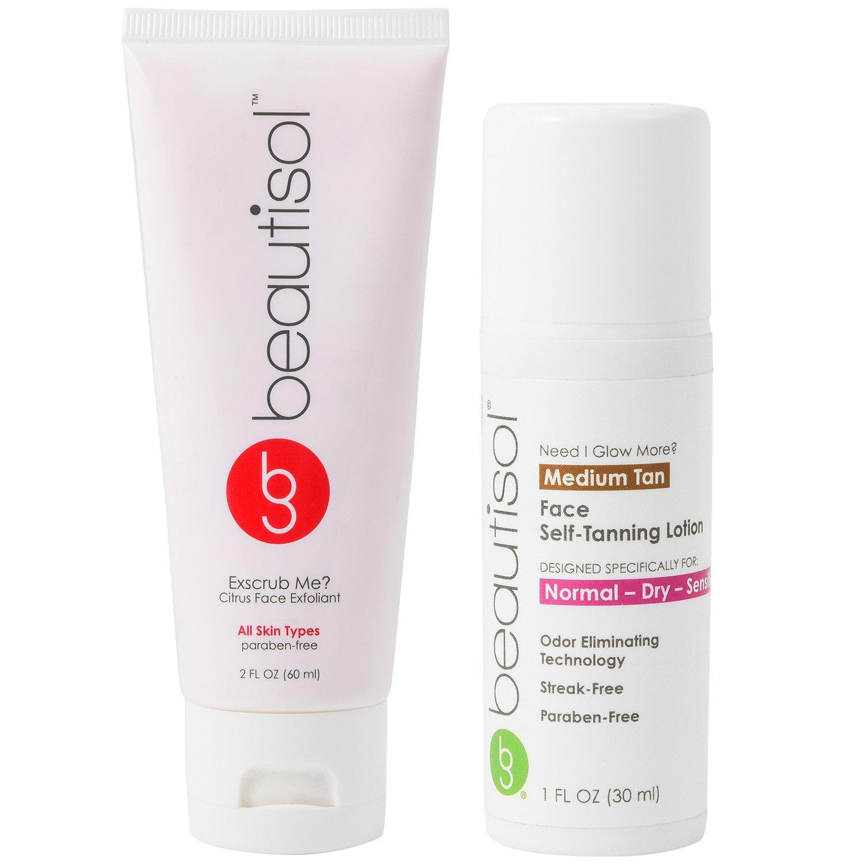 Beautisol Sunless Face Tanner & Exfoliation Kit for Oily Skin