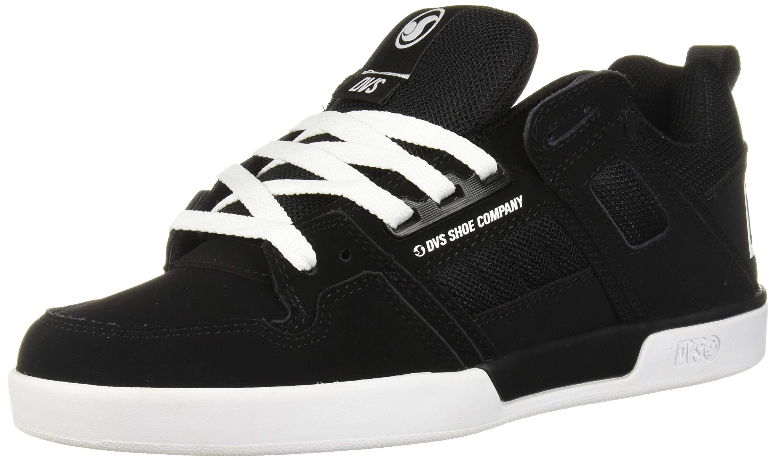 DVS Men's Comanche 2.0+ Skate Shoe, Black White Nubuck, 10 Medium US by DVS