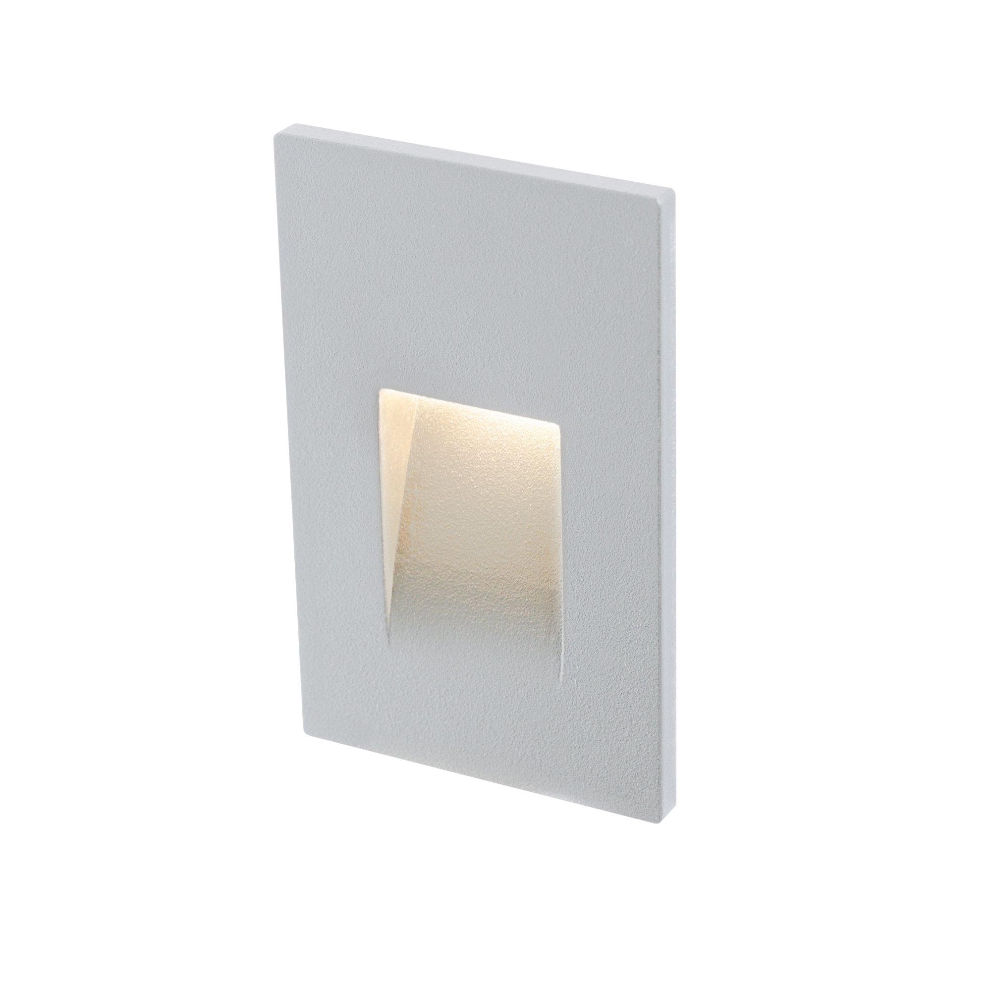 DALS Lighting LEDSTEP002D-SG 3'' Recessed Vertical Indoor/Outdoor LED Step Light Satin Grey