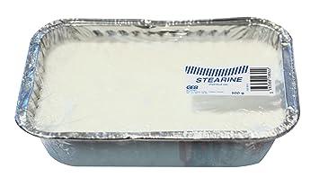 GEB Cera de saponificación de estearina para alisar soldaduras de fontanería, bandeja de 500 g