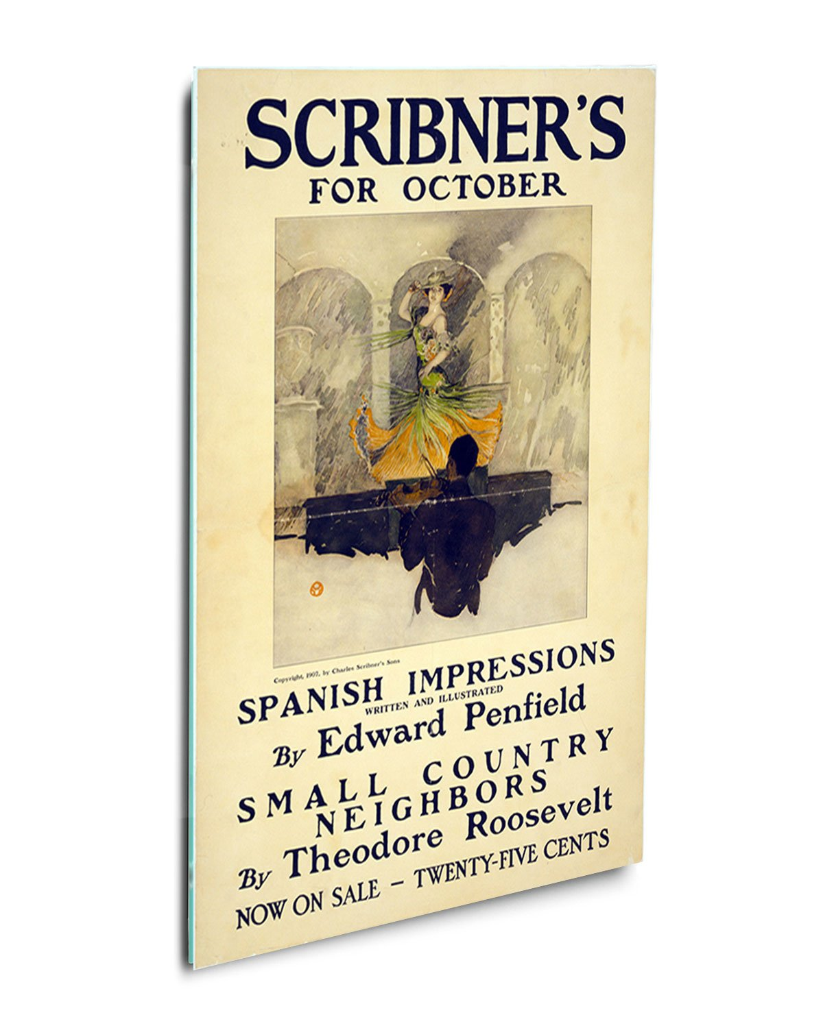 Amazon.com: Scribners Vintage Poster #2 Acrylic Print Wall Decor ...