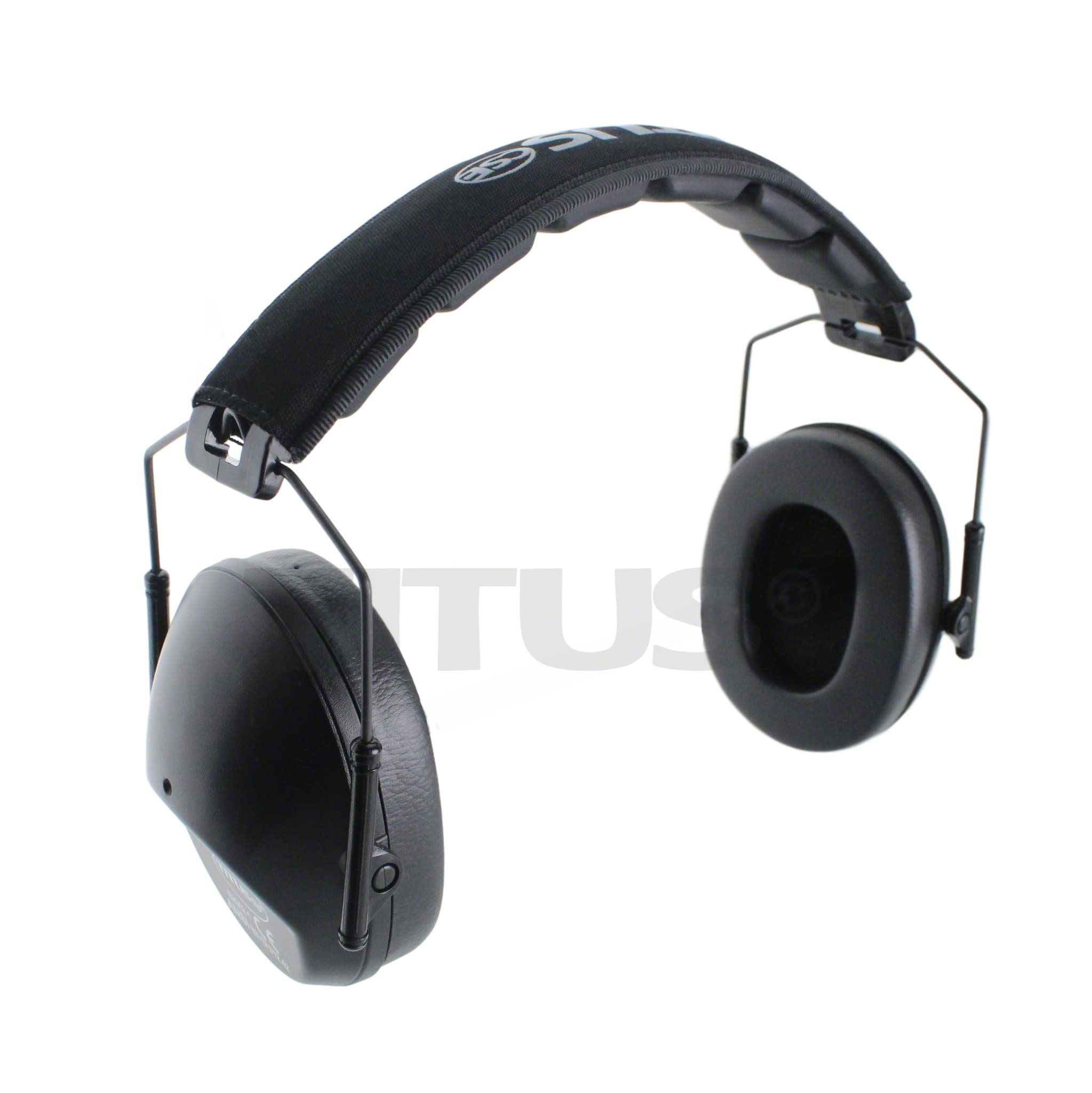 TITUS Low-Profile 34 Decibel NRR Safety Earmuffs (No Pouch, Black) by Titus (Image #5)