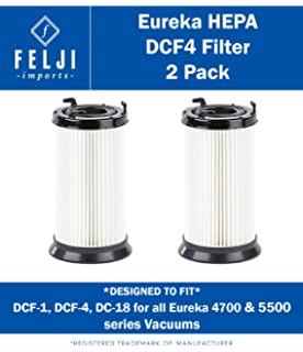 Felji 2 Pack HEPA Filter Replacement for Eureka DCF-1, DCF-4,