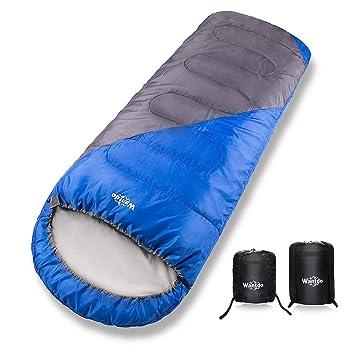 Amazon.com: Wantdo Saco de dormir con capucha para clima ...