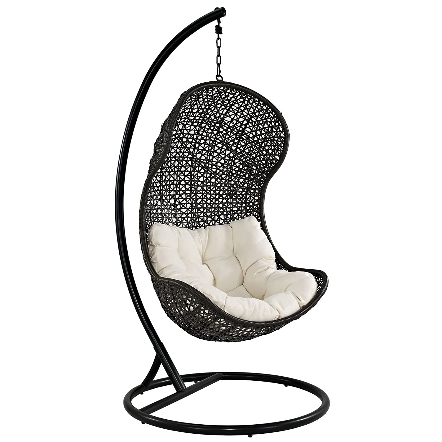 Amazon Modway The Parlay Rattan Outdoor Wicker Patio Swing