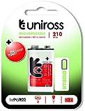 Uniross 210 mAh Rechargeable Battery (White)