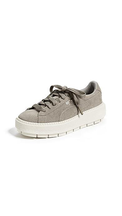 a071a3893fa PUMA Women s Suede Platform Trace Sneakers
