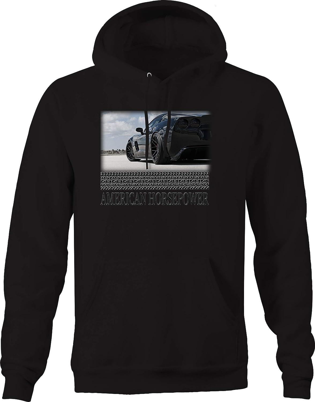 Caps Supply American Horsepower Corvette All Black Track Racing Sweatshirt