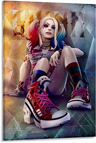 Painting Suicide Squad Harley Quinn Poster Art Living Room Mural