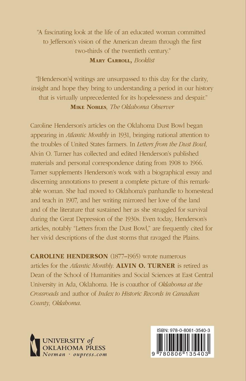 Amazon: Letters From The Dust Bowl (0658804035409): Caroline Henderson,  Alvin O Turner: Books