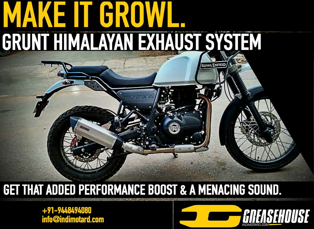 Greasehouse Customs Stainless Steel Royal Enfield Himalayan Grunt