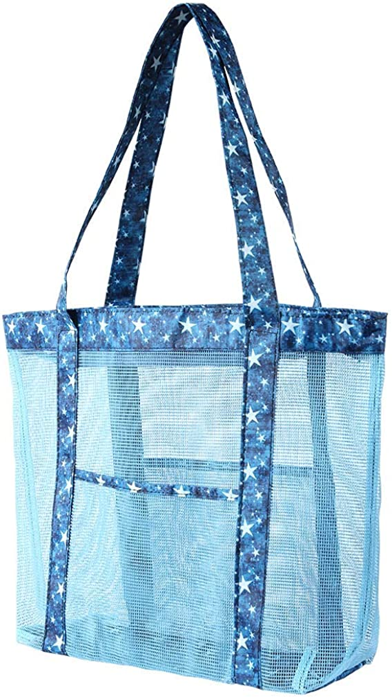Atrest Clear Beach Tote Bags 19 inch// 24L High Capacity Travel Work Gym Stadium Approved Bags 2 Set