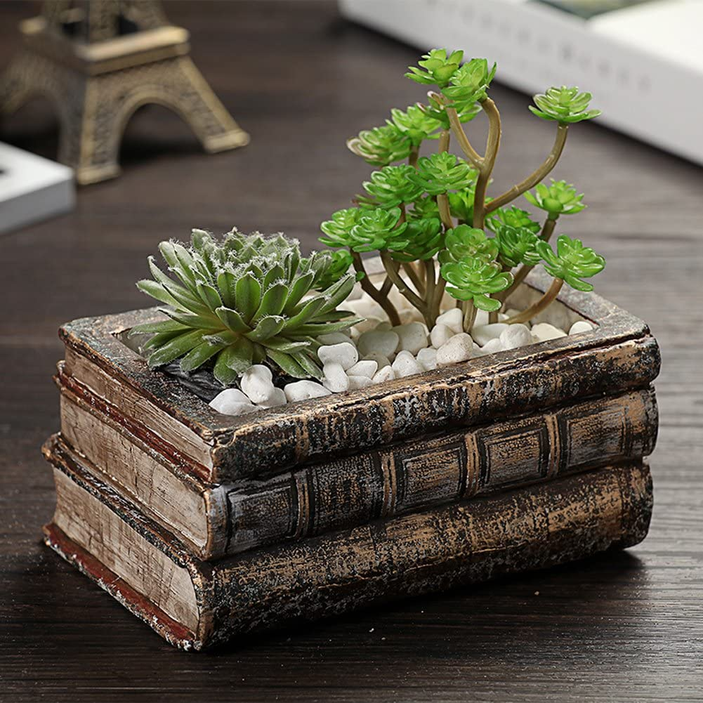 Creative Antic Book Flower Plant