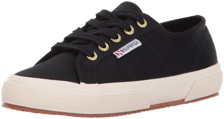 Superga Women's 2750 Satin Fashion Sneaker B01N5UZC26 36 M EU / 6 B(M) US Black/Gold