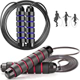 Adicop 2 Pack Jump Rope Ball Bearings Tangle-Free Rapid Speed Cable Skipping Rope Adjustable Jumping Ropes with 6…