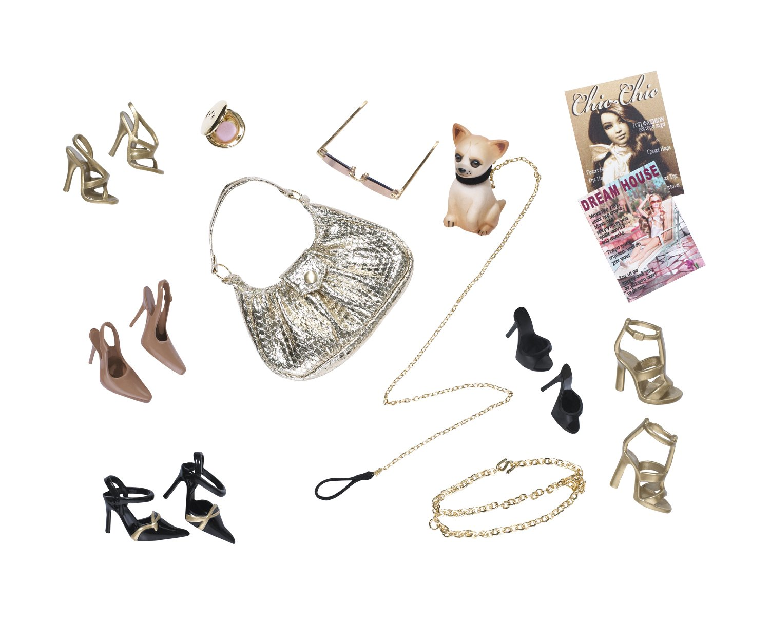 Barbie Back to Basic Gold Accessory Pack