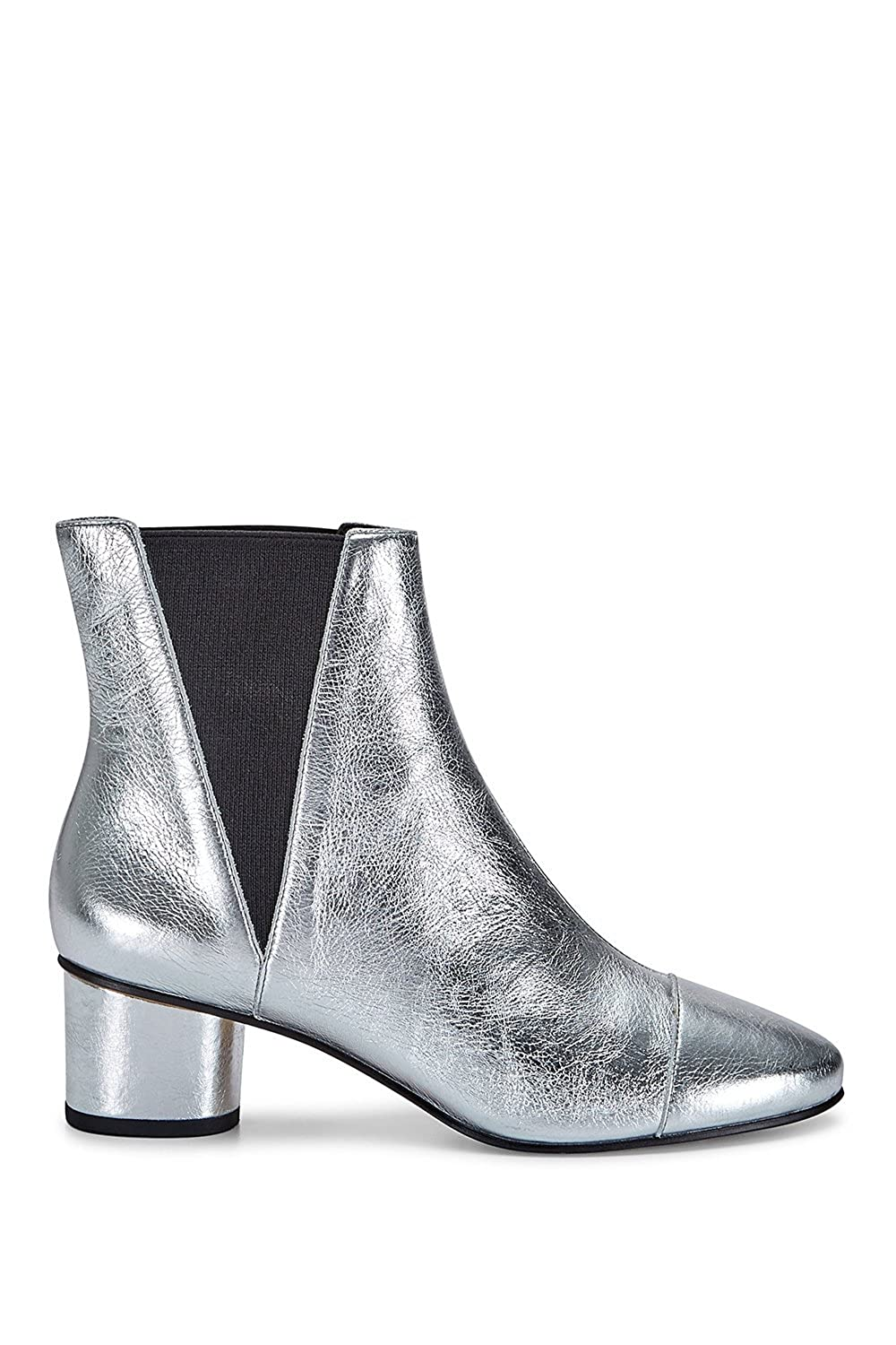 0f6614663ae Amazon.com: Rebecca Minkoff Izette Silver Heeled Boots: Shoes