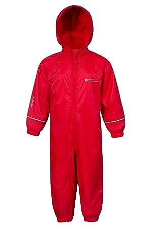 Mountain Warehouse Spright Bedruckter Regenanzug - Atmungsaktiv, Gefüttert, Wasserfest, versiegelte Nähte Anzug, Fleecefutter