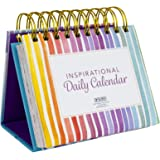 Motivational & Inspirational Perpetual Daily Flip Calendar with Self-Standing Easel