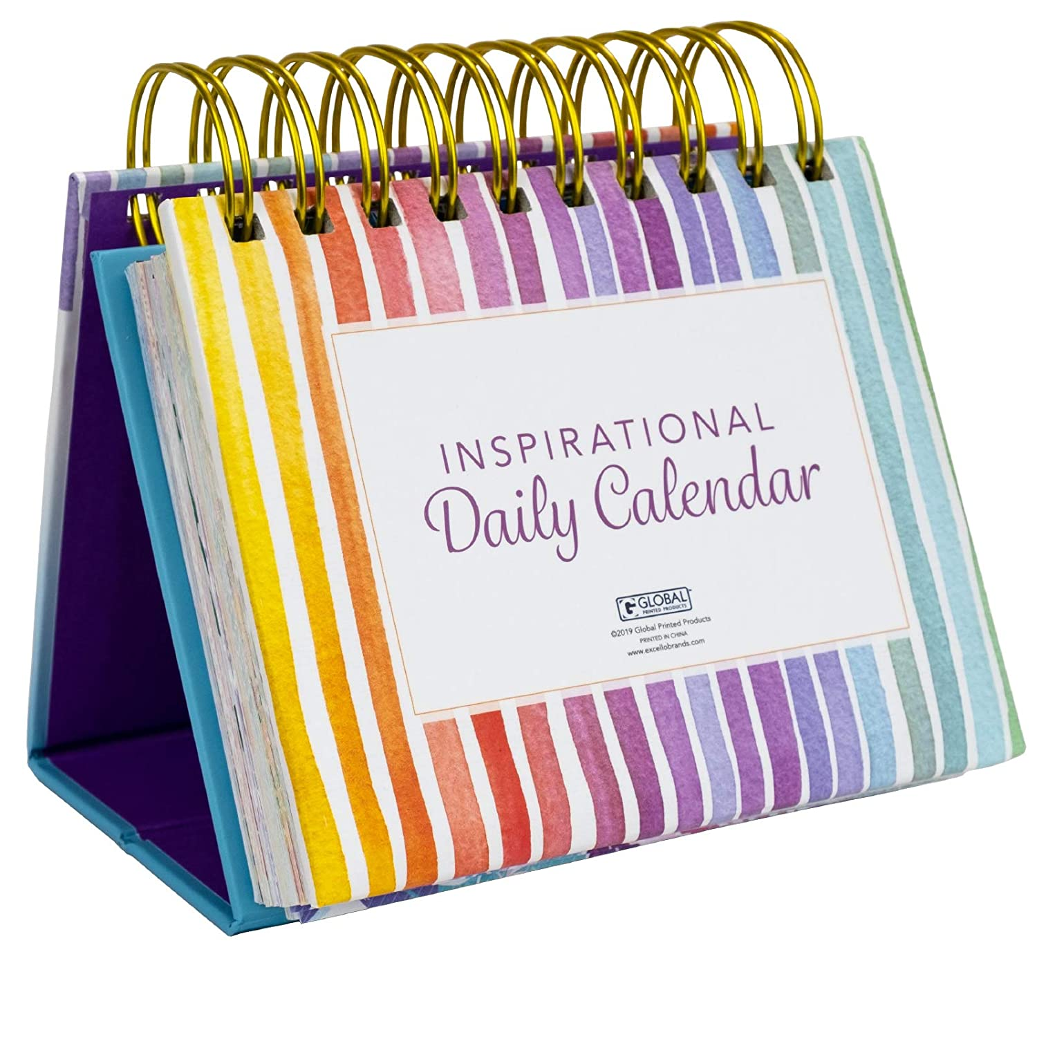 Moivational & Inspirational Perpetual Daily Flip Calendar with Self-Standing Easel