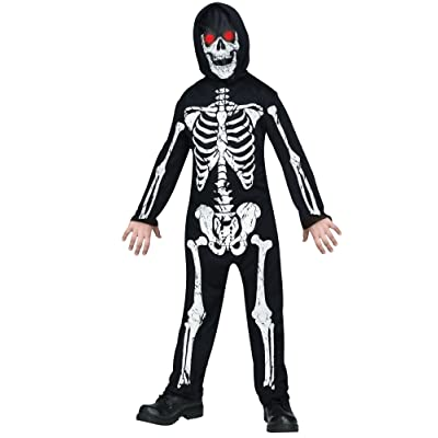 Fade in and Out Skeleton Phantom Costume for Kids: Toys & Games [5Bkhe1101456]