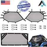 Arsenal RZR Window Race Net,Kit UTV Roll Cage Driver and Passenger Front Mesh Guard and Rear Roll Cage Shade Shield…